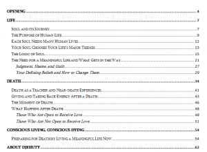 Conscious Living, Conscious Dying TOC