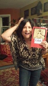 My friend Teza Zialcita goofing on being a wild woman with my Lilith book.