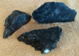 rough spectralite pieces